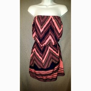 Express strapless dress sz Small wrap skiry